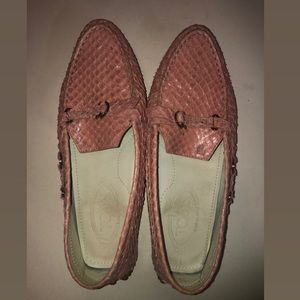 Tods Pink Gommino Loafers